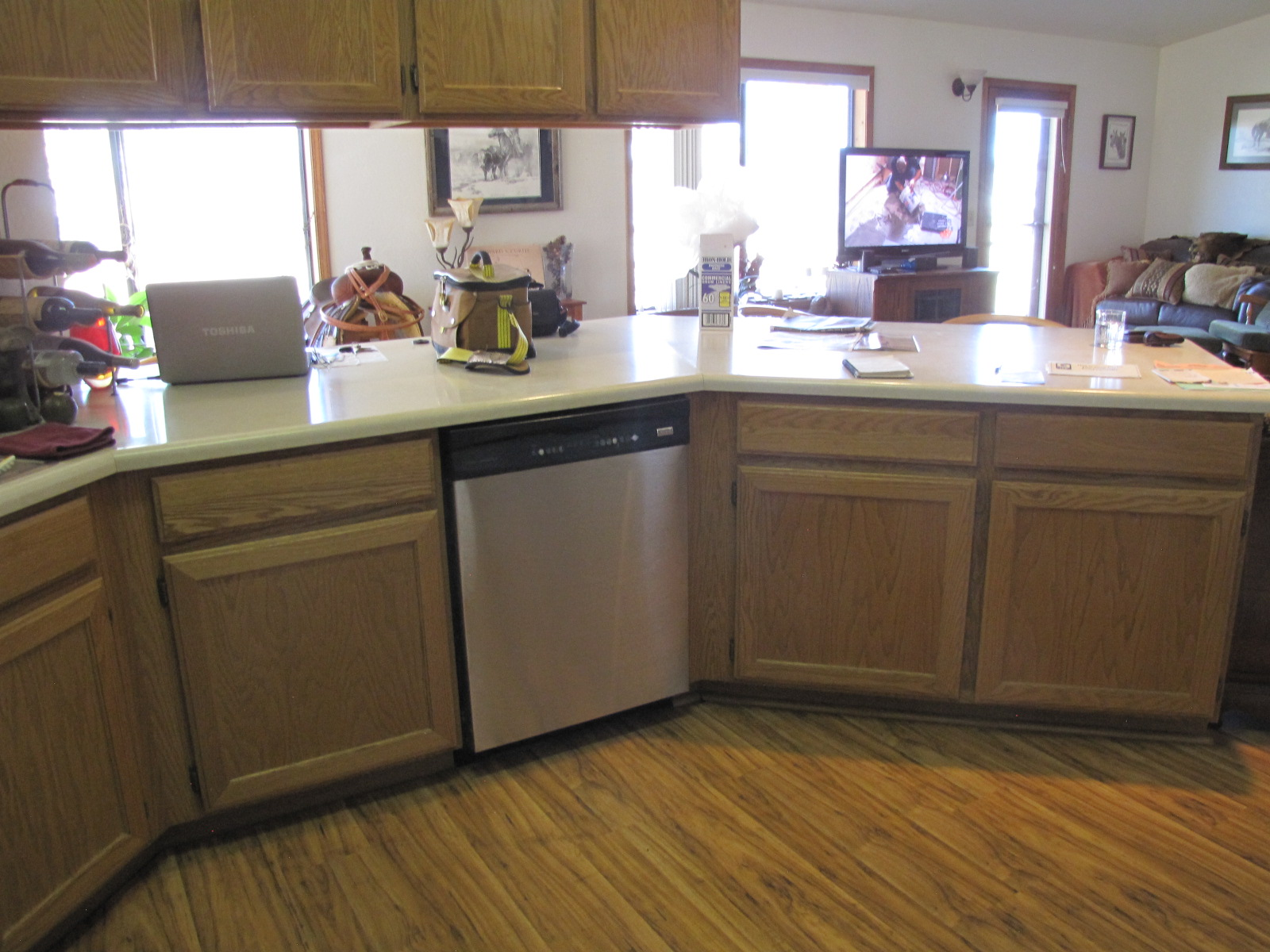 Interior shot of a residential kitchen ready to be remodeled